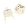 3 Pommes NY White Puppy Hat + Scarf Set FW16
