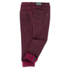 Jean Bourget Denim Trousers Burgundy FW16
