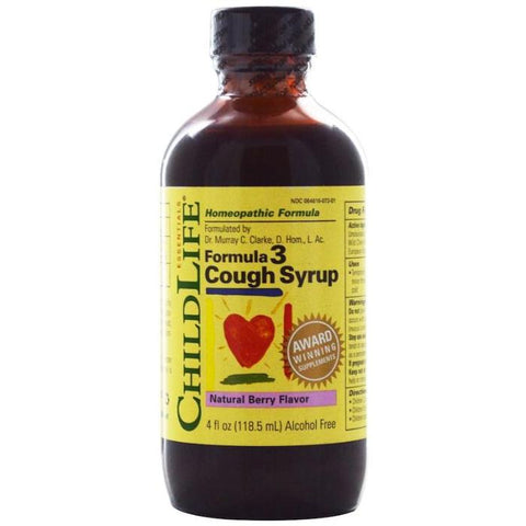 ChildLife Formula 3 Cough Syrup Natural Berry Flavor 4oz