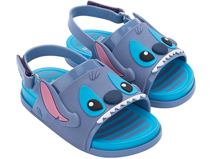 Mini Melissa Beach Slide Sandal - Lilo & Stitch Blue