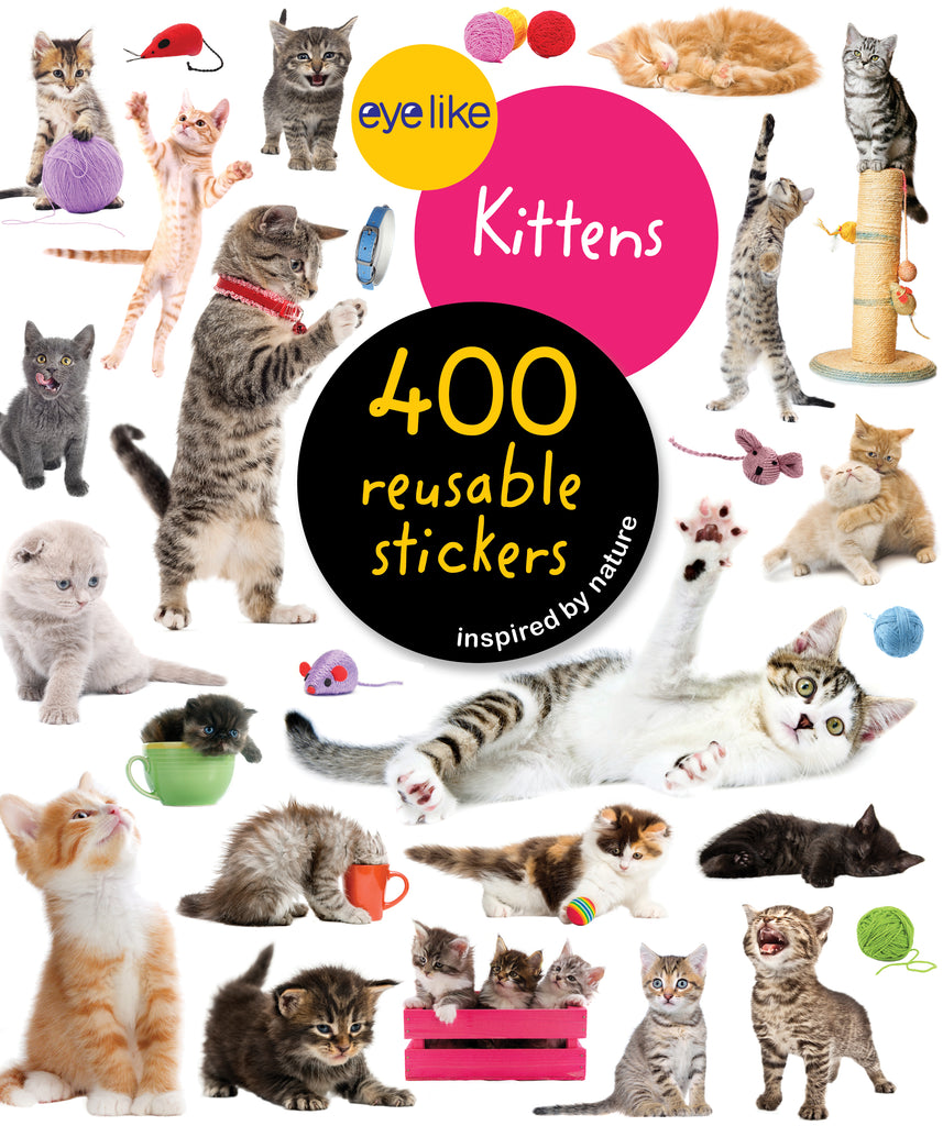 Eyelike Reusable Stickers - Kittens