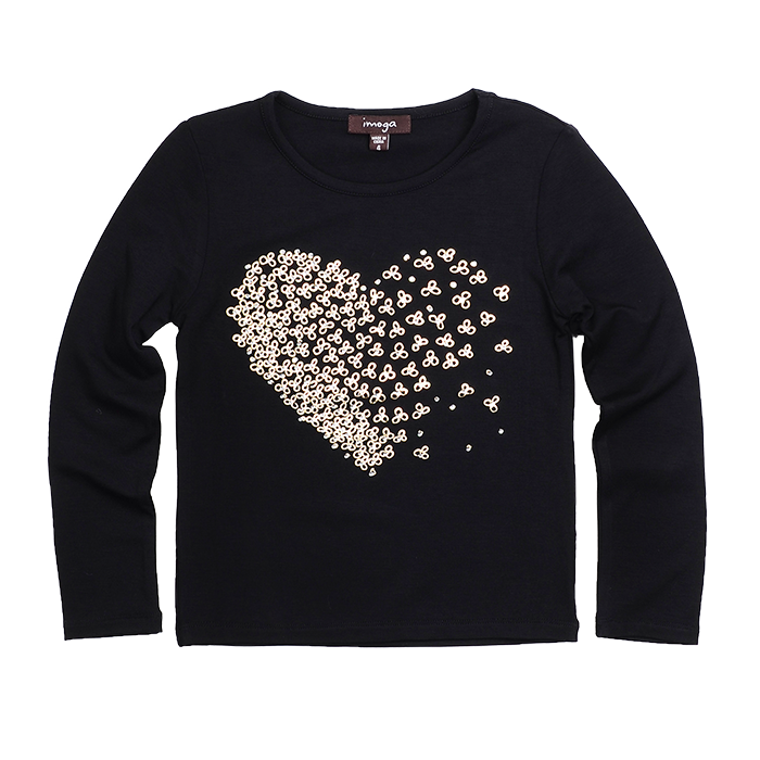 Imoga Ariana Florette  Long Sleeves T Shirt - Florette Black FW16