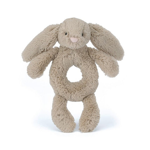 JellyCat Bashful Bunny Ring Rattle - Beige