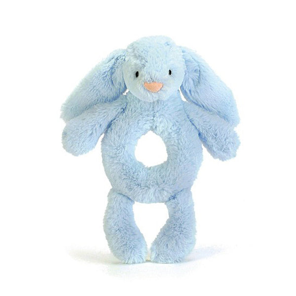JellyCat Bashful Bunny Ring Rattle - Blue