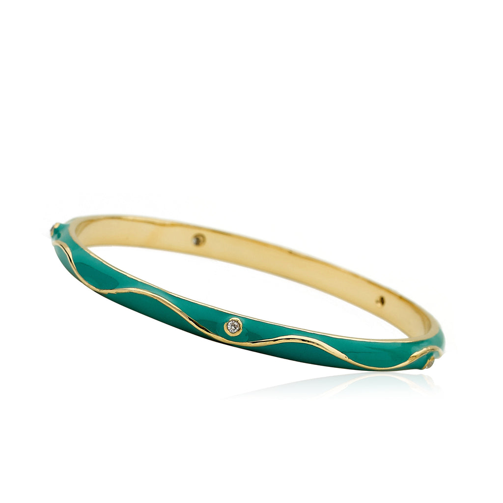 LMTS Stackable Stunners Turquoise Swirl Bangle