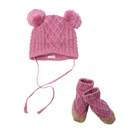 EGG Cable Hat & Booties Set FW16