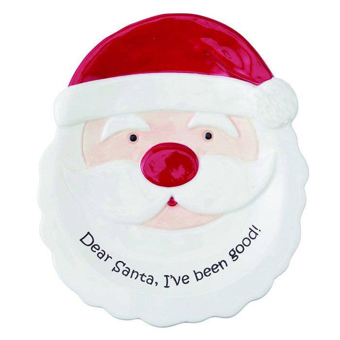 Mud Pie Dear Santa Plate Set