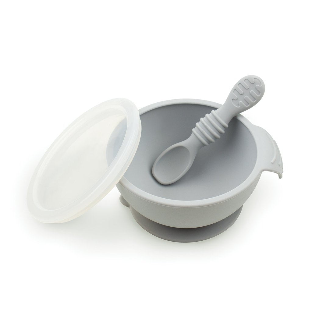 Bumkins First Feeding Set - Gray