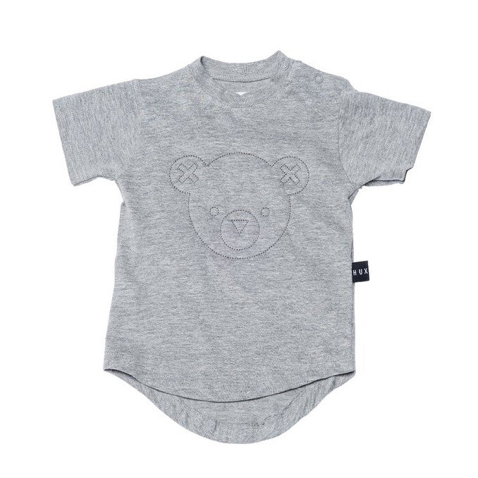 Huxbaby Bear Drop Back Grey Tee FW16