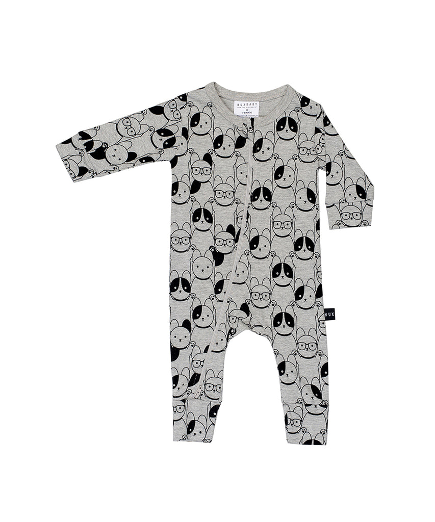 Huxbaby Puppy Love Zip Romper