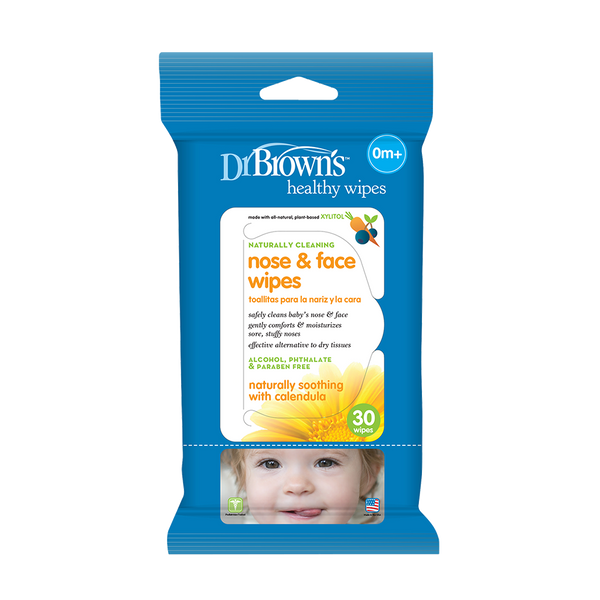 Dr. Brown's Nose and Face Wipes 30 Pk