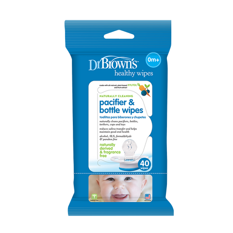 Dr. Brown's Pacifier and Bottle Wipes 40 Pk
