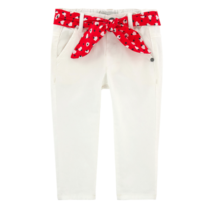 Jean Bourget Girl Slim Fit White Pants