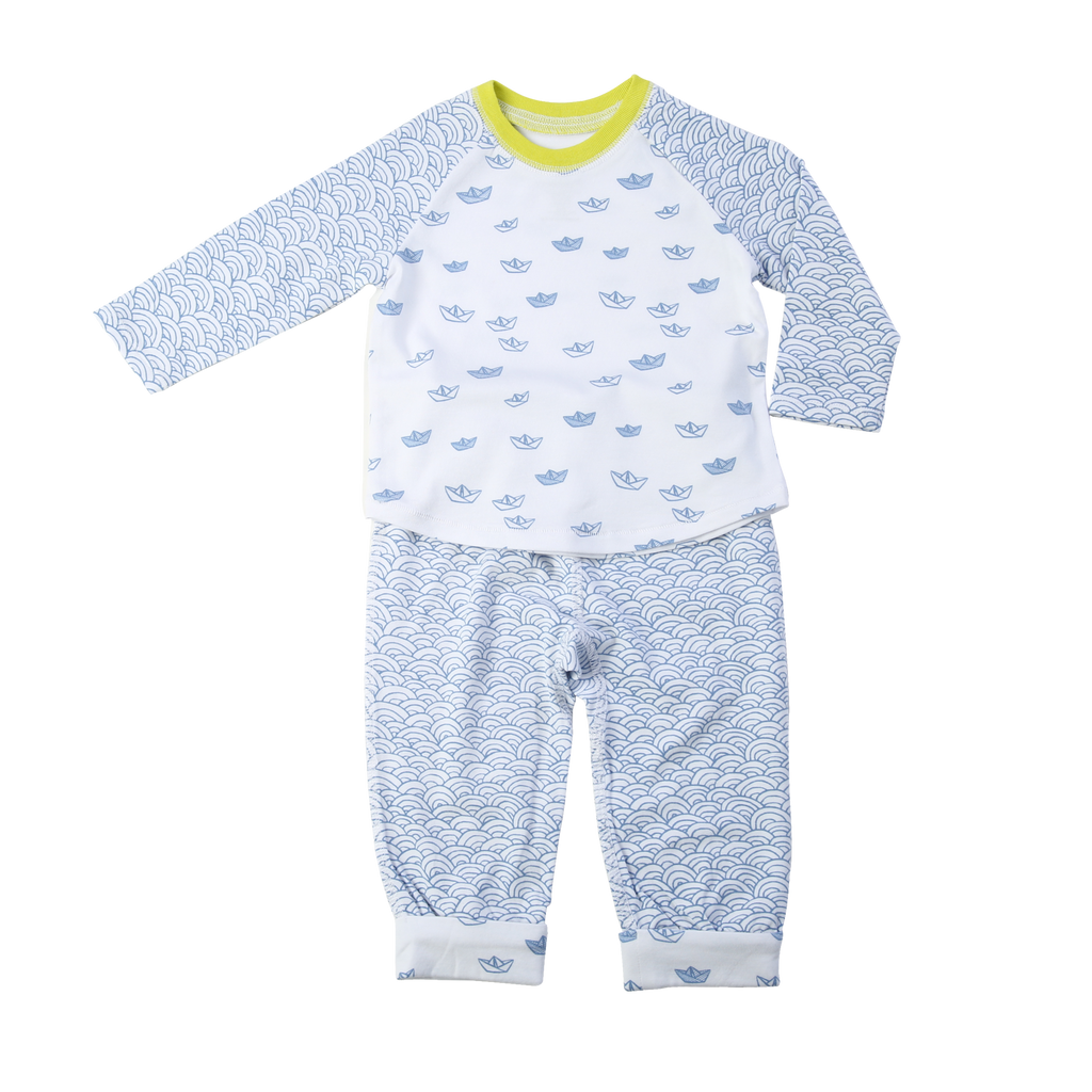 EGG Sailboat Print Two Piece Infant Set