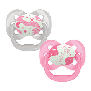 Dr. Brown's Advantage Pacifiers Glow in the Dark - Pink