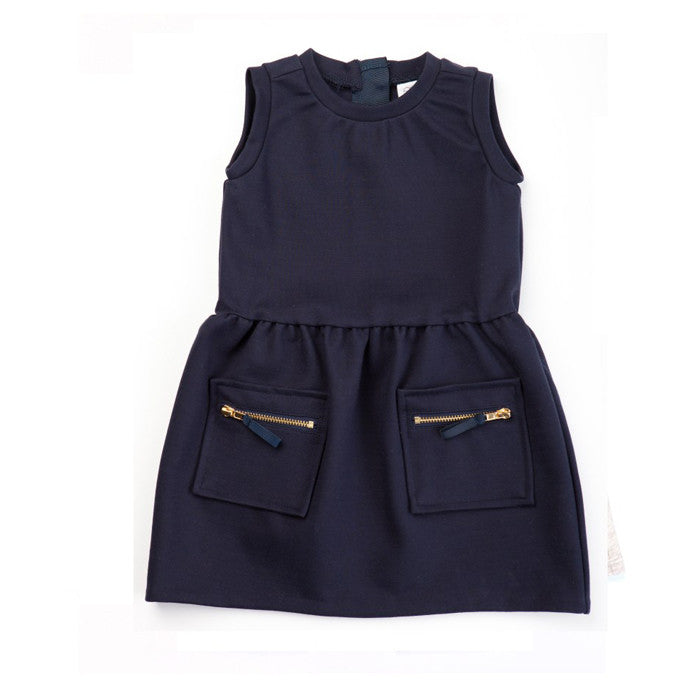 Egg Ponte Dress - Navy