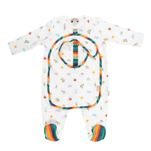 Paul Smith Footie Pajama & Bib