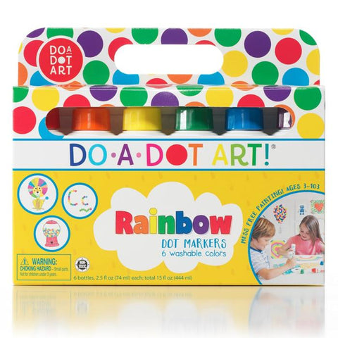 Do-A-Dot Art 6 Pack- Rainbow