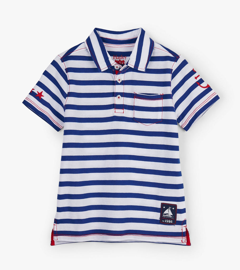 Hatley Nautical Strip Polo Tee