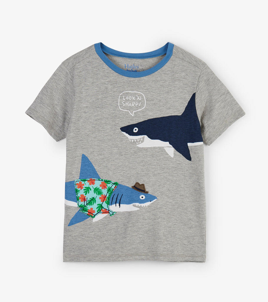 Hatley Sharp Dressed Shark Graphic Tee