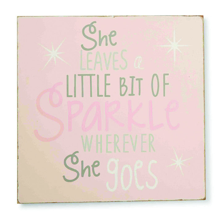 Mud Pie She Sparkles Plaque