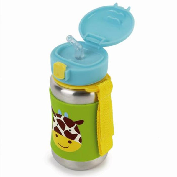 Skip Hop Zoo SS Straw Bottle - Giraffe