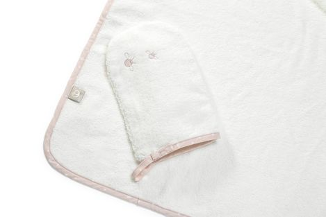 Stokke Hooded Towel Pink Bee