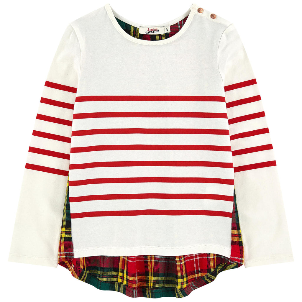 Junior Gaultier Red Stripe Top Scottish Skirt FW16