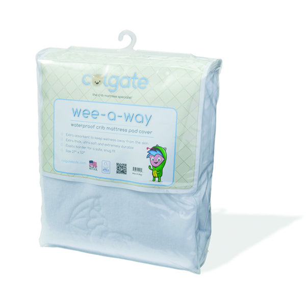 Colgate Wee-A-Way Waterproof Fitted Crib Mattress Cover