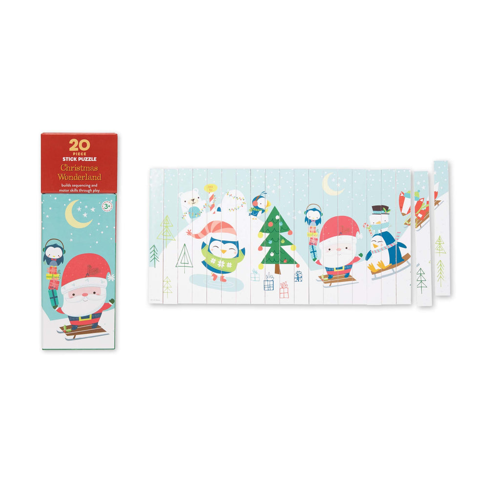 CR Gibson Christmas Stick Puzzles 20pcs
