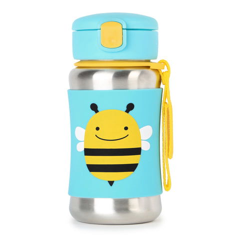 Skip Hop SS Straw Bottle - Bee