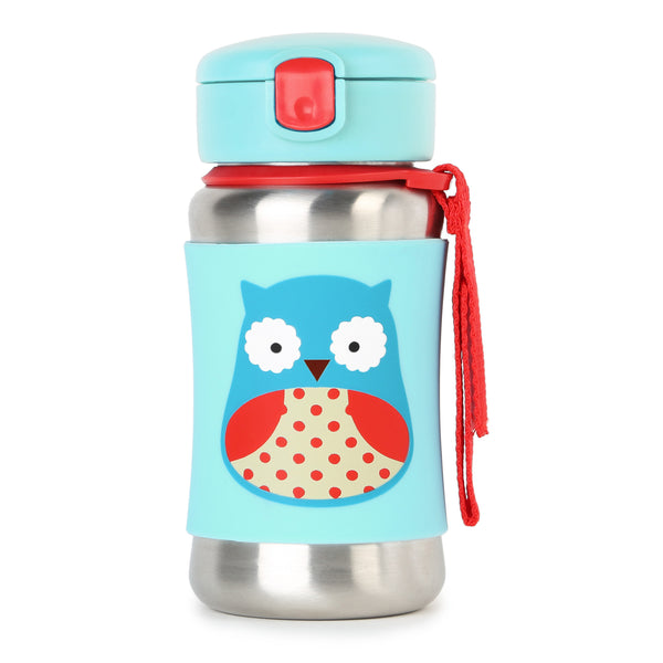 Skip Hop Zoo SS Straw Bottle - Owl