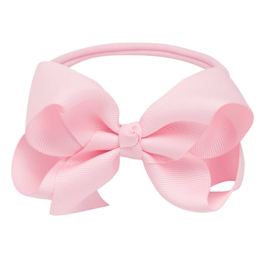 Elegant Baby Pale Pink Baby Girl Hair Bow Headband