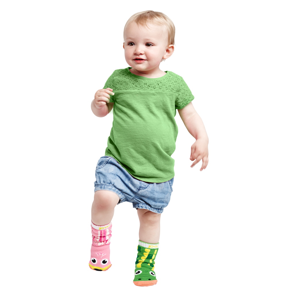 Pals Alligator & Flamingo Toddler Socks