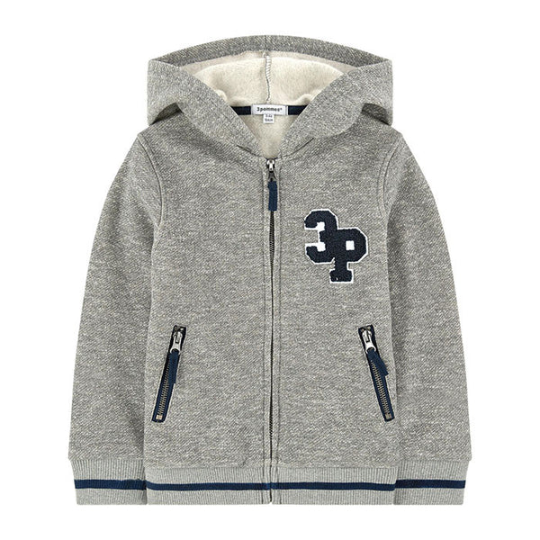 3 Pommes Zipper Sweater and Sweatpants Set