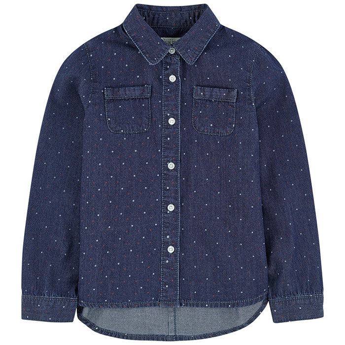 Jean Bourget Indigo Dots Denim Shirt FW16