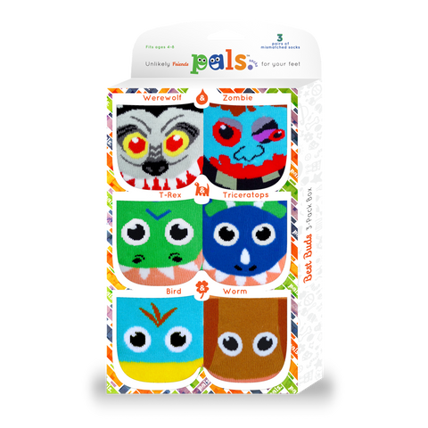 Pals Best Buds: Pals Socks 3-Pack for Ages 4-8