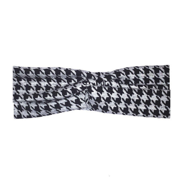 Rhyla Black Grey Houndstooth Twist