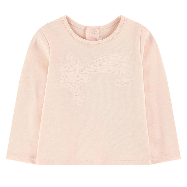 Chloe LS Apricot Shooting Star Cotton Tee FW16