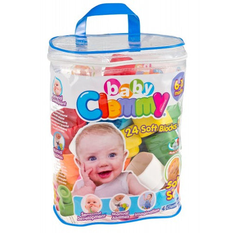 Clementoni Baby Clemmy 24pc Soft Block Set (Zip Bag)