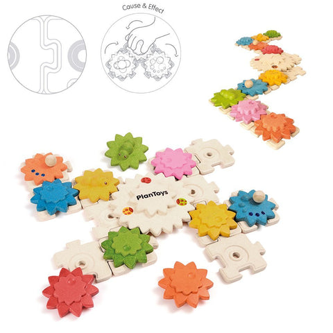 Plan Toys Gears & Puzzles (Deluxe)
