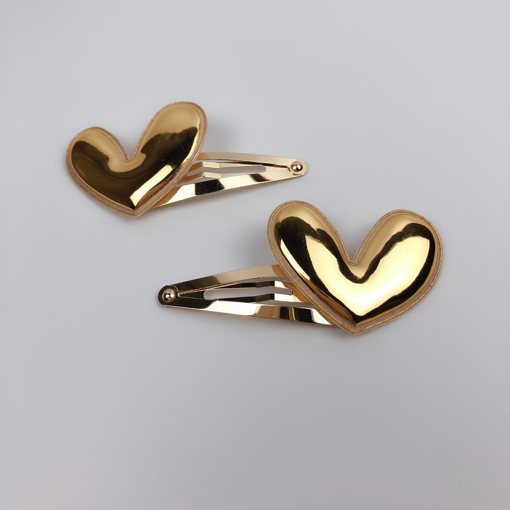 Summer Jupiter Plush Golden Heart Clip