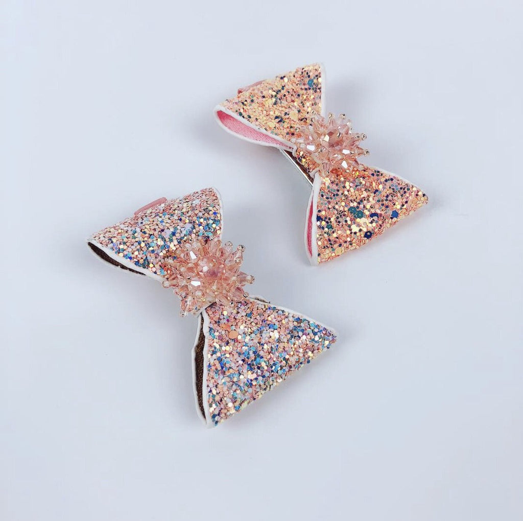 Summer Jupiter Glitter Grand Bow