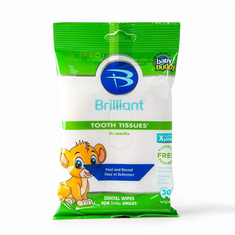 Baby Buddy Tooth Tissues Natural Dental Wipes for Gums and Teeth