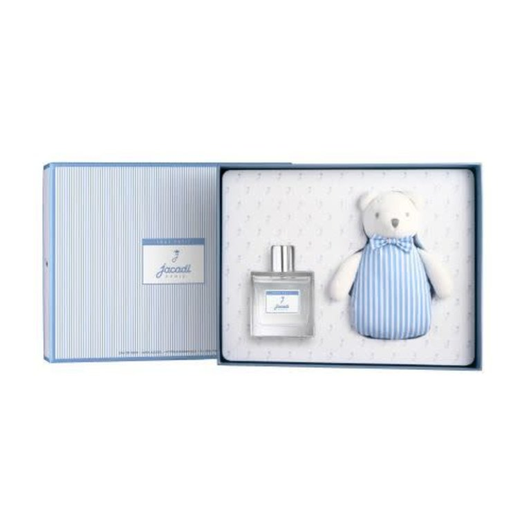 Jacadi Tout Petit Baby Boy Gift Set 3.4oz/Teddy Bear