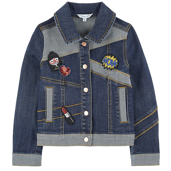 Little Marc Jacobs Denim Jacket with Fancy Patches FW16