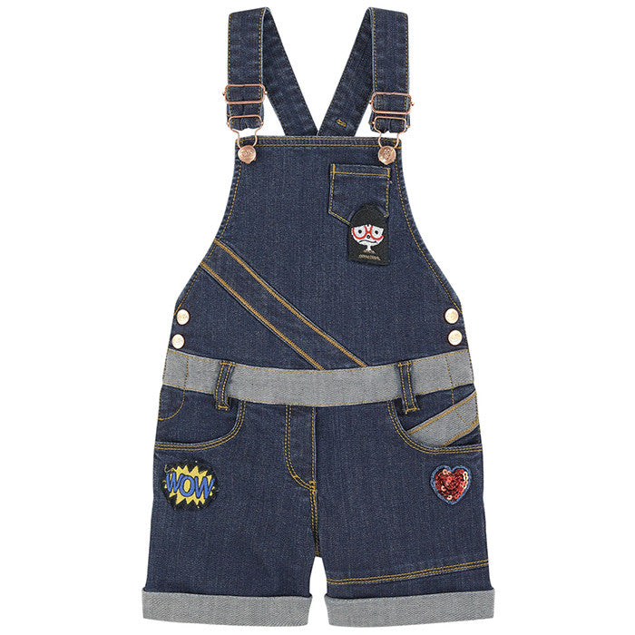 Little Marc Jacobs Denim Dungaree with Fancy Patches FW16