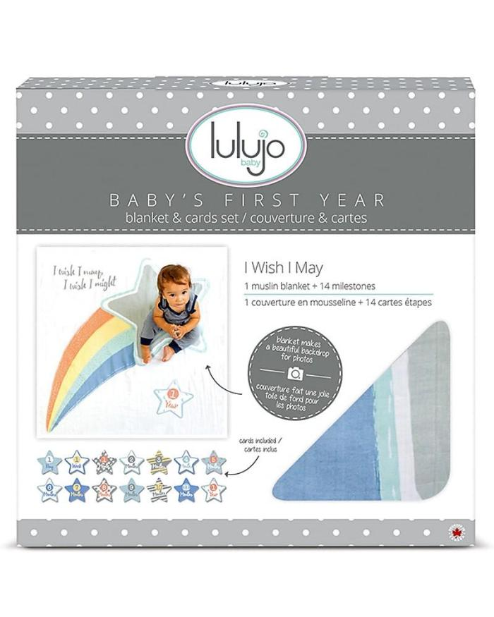 Lulujo Baby's First Years Blanket And Cards