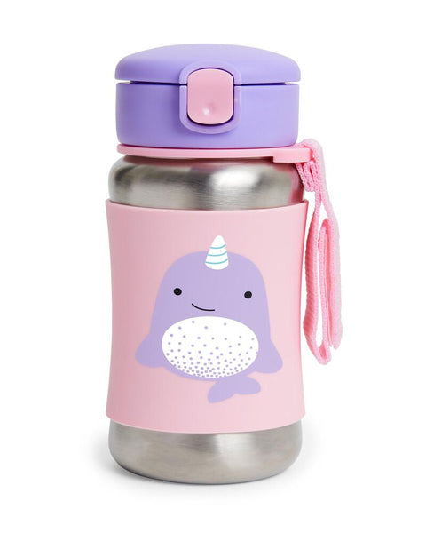 Skip Hop Zoo SS Straw Bottle - Narwhal