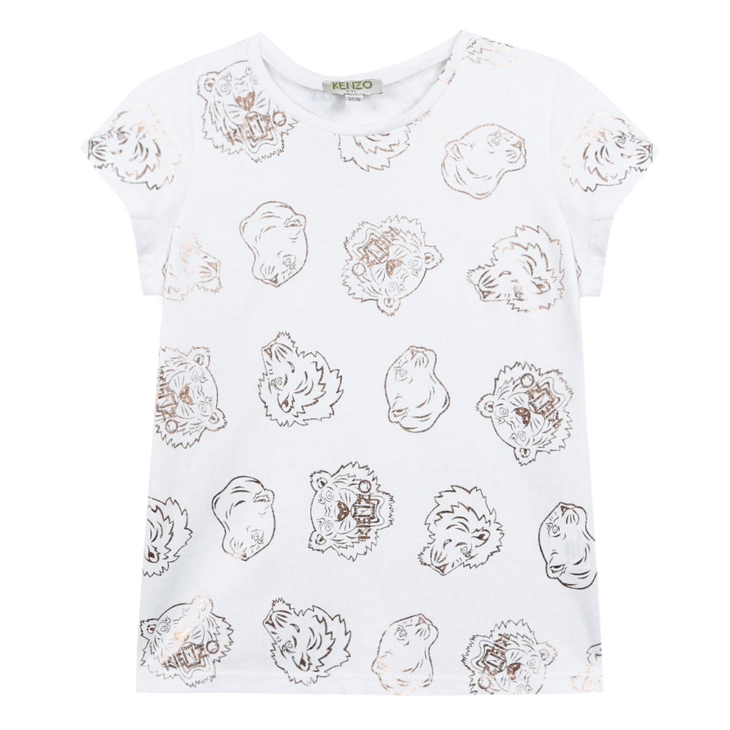 Kenzo Rose Gold Tiger- Tee Shirt